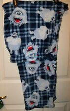 Abominable Monster Snowman Pl Fleece Sleep Lounge Pajama Pj Pants Mens Xl Nwt