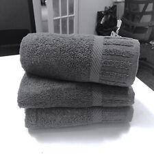 100% Egyptian Cotton Hand Towels Set 500 GSM 3 PC Towels Stripe Luxury Bathroom