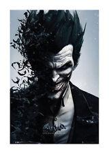 Quadro su pannello in legno MDF Batman Arkham Origins Joker Bats Misura 60x90 CM