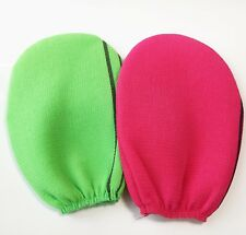 x 2 Korean Bath Towel Body Scrubber exfoliating Glove, Sponge type
