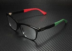 GUCCI GG0162Oa 003 Rectangular Square Black Demo Lens 55 mm Unisex Eyeglasses