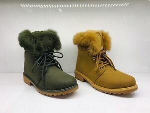 Footwear Sale Women's Ankle Boots Lace-Up Fur Warm Winter Shoes Size