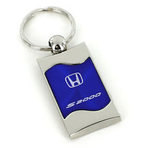 Honda S2000 Blue Spun Brushed Metal Key Ring