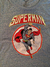 DC Comics Superman T-Shirt Distressed Blue Juniors Large Girls - Size 11/13 NWT