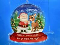 "Kurt Adler 4.25""~RUDOLPH w/ YOUR NOSE SO BRIGHT~3D Lenticular Christmas Ornament"