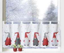 Wichtel Weihnachtsgardine Scheibengardine Weihnachten Dekoration Gardine Typ651