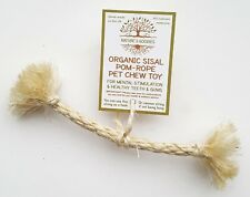 Organic Sisal Pom-Rope Pet Chew Toy for Rabbit Guinea Pig Chinchilla Small Pets
