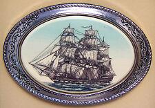 Belt Buckle Barlow Scrimshaw Constitution Sailing Ship Old Ironsides Wooden 203c