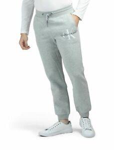 Men's Calvin Klein Jeans Grey Retro Style Jog Bottoms Sweatpants - XS,  XL