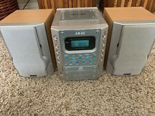 Akai Mx-2800 Micro Stereo System With 2 Speakers Cd Cassette