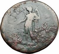COMMODUS 177AD Authentic Ancient Roman Coin PARIUM MYSIA EROS HERM RARE i79952