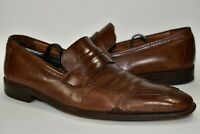 Mezlan Hynde Mens Brown Penny Loafers Dress Shoes Leather Slip On Size 9 M