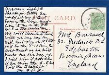 Buncrana Skeleton Temporary Postmark 1905 Londonderry Bridge pc  pc  W440