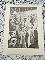 ANTIQUE ART PRINT ETCHING-LITHO-PEGGY BACON-THE SOCIAL GRACES