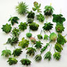 Mini Artificial Plants Potted Fake Plastic Green Plants with pot for Home Decor