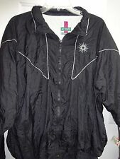 ACTIVE EXPOSURE Black with Silver Trim Ladies XL Jacket Zip Front Lined L@@K