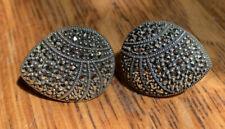 Lovely Sterling Silver & Marcasite Earrings, JJ Judith Jack,