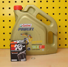 Suzuki GSR 600 750 GSX-S 750 1000 Öl K&N Ölfilter Castrol Power1 10w40 Motoröl