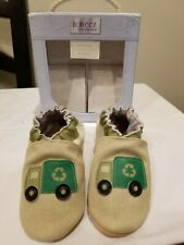 Robeez Boys Eco Friendly Soft Sole Leather Shoe Recycling Truck sz 12-18 months