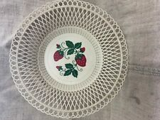 Vintage retro plastic bowl with strawberry theme made in RUSSIA