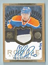 NAIL YAKUPOV 2013/14 THE CUP GOLD RC 2 COLOR PATCH AUTOGRAPH AUTO /64 OILERS