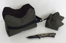 Rifle Rest Gun Bag & Camo Fire Starter Knife Gift Pack Range Bags Hunting