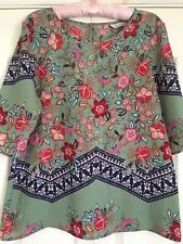 Peacocks Green Floral Womens Top Size 14 Bnwot