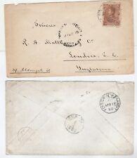 Venezuela cover 1890 via Curacao to England