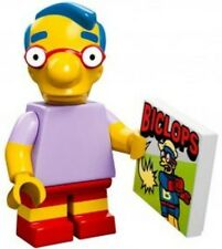 The Simpsons Lego collectible minifig Milhouse Van Houten with comic