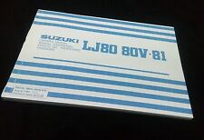 SUZUKI LJ80/LJ80V/LJ81 OWNER MANUAL (replica)