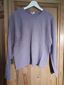 Hess Natur Pullover Größe 38/40 fliederfarben Stickware weit geschnitten