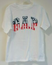 NWT Gap Kids White Stars & Stripes Logo Tee Shirt Boy's Size L / 10