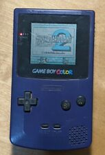 Nintendo Game Boy Color CGB-001 purple  — powers on, loads game, SOLD AS-IS