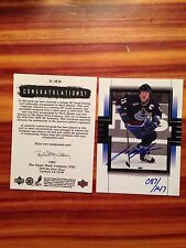 1999-00 Upper Deck BUYBACK Sp Authentic Mark Messier Autograph Card # 087/147