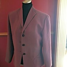 Larry Levine Blazer Womens Size 14 Career Lined Button Pocket Jacket Plum Purple