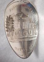 Sterling Souvenir Spoon Rogers, Lunt & Bowlen Harvey Illinois Public Lib ca 1900