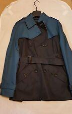 Coach Colorblock Short Trench Coat Midnight Navy Multi F86036 NWT