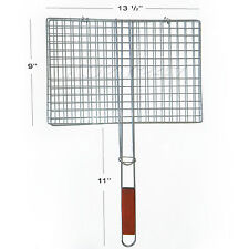 BBQ Barbecue Grill Basket Folder Tool Fish Steak Meat Vegetable