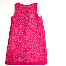 Gymboree Girls 7 Hot Pink Embroidered Daisy Easter Spring Dress