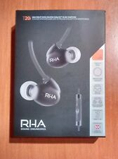 RHA T20i DUAL COIL NOISE ISOLATING DUAL COIL. EAR HEADPHONES..SOUND ENGINEERED..