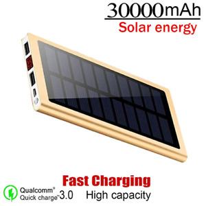 30000mAh Solar Power Bank Fast Charger Power Bank For Xiaomi iPhone Samsung New