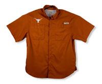 Columbia Men's PFG Vented Fishing Shirt Orange Texas Longhorns Size M