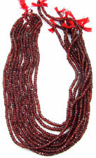 "38 Ct Natural Garnet Gemstone Rondelle Loose Beads Stone String 13.5"" - B218"