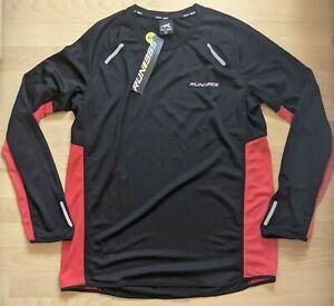 BNWT Mens Run 365 Running T-Shirt Training Long Sleeve Top Large