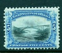 [MD1]   US #297 Mint-NH 1901 ~ 5c PAN-AM BICOLOR EXPO  Issue..Ships FREE!