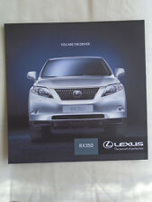 Lexus RX 350 brochure Oct 2010 South African market