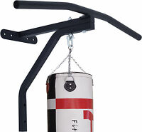 ARD Chin Pull Up Bar with Punch Bag Bracket Wall Mounted Gym Chinning Workout BK