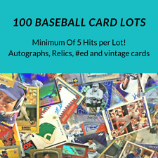 1 Auto/Relic 5 Hits Total - 100 Baseball card Lot