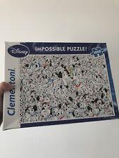 """Clementoni Disney 101 Dalmatians """"Impossible"""" 1000 Piece Jigsaw Puzzle NEW"""