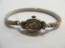 Vintage HAMILTON 14K Yellow Gold & Diamond Watch 768 Movement